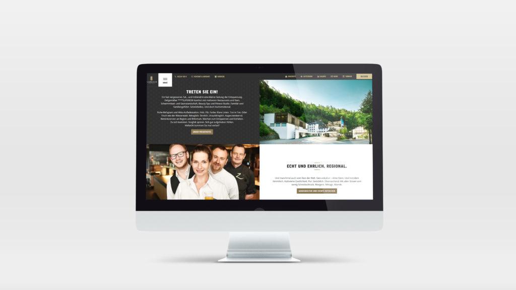 Hotelwebsite für Hotel Zugbrücke Grenzau