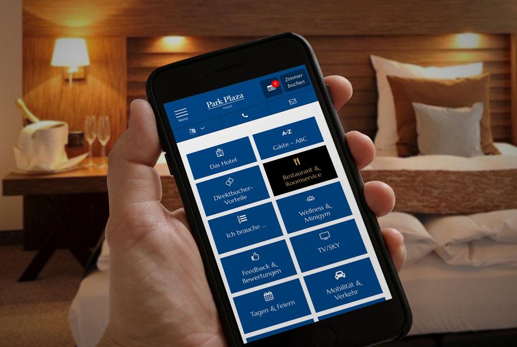 Park Plaza Trier: Inhouse App für Hotels