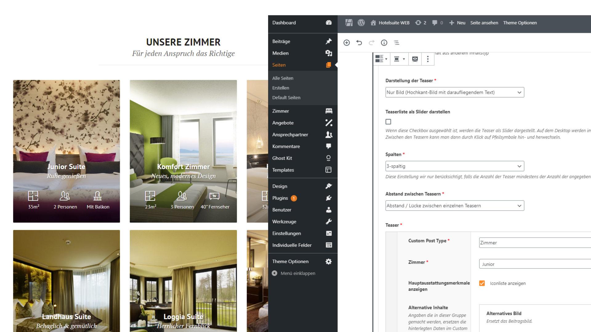 Unterschiedliche Möglichkeiten zur Darstellung Ihrer Zimmerkategorien
