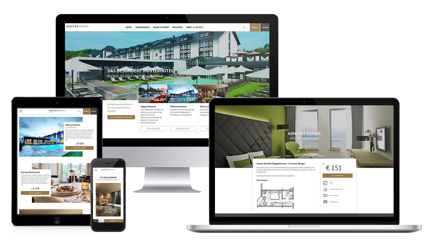 Die perfekte Hotel-Website