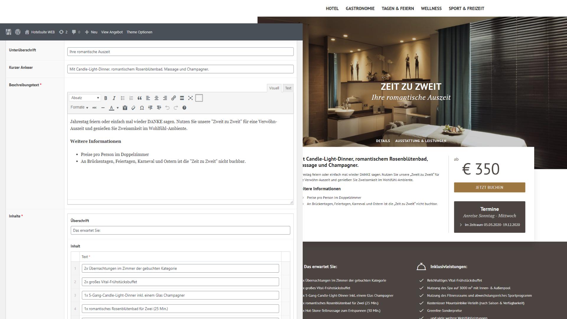 hs WEB - Hotelspezifisches Backend mit vielen komfortablen Funktionen